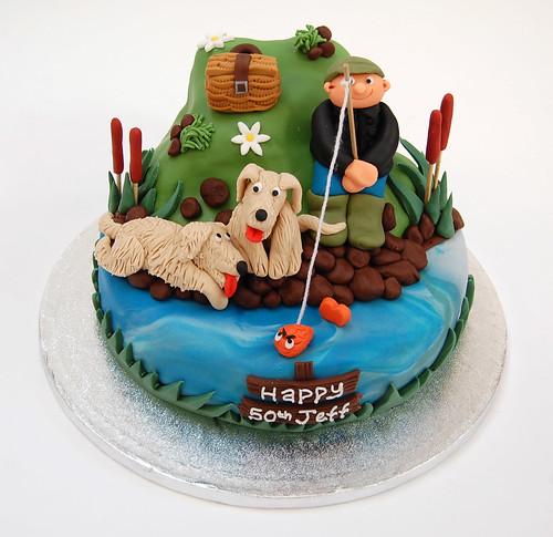 fishing birthday cakes