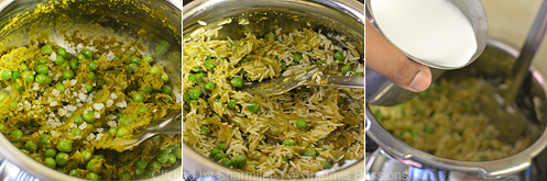 Coconut Milk Peas Biriyani Recipe - Step3