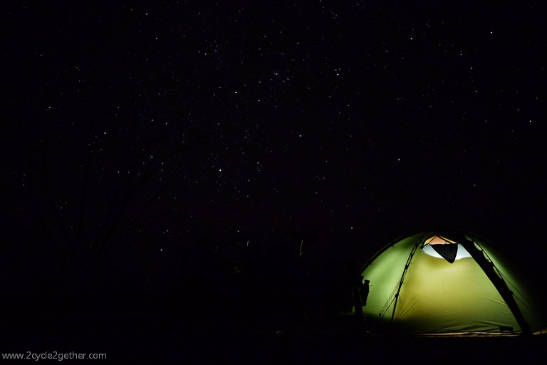 Wild Camp, Tent and Stars
