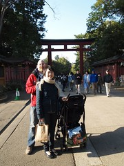 Lisa, David, and Alan at Hikawa Shrine