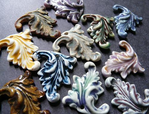 Porcelain Acanthus Pendants