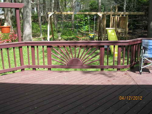 Deck with playground.