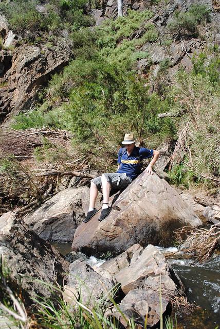 Crossing the Werribee River - Werribee Gorge State Park - Victoria