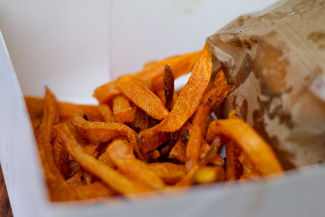 Sweet potato fries, Cantine California