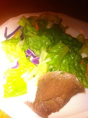 Beef Tongue and Salad at Alphy's Basque Chateau in Shell Beach
