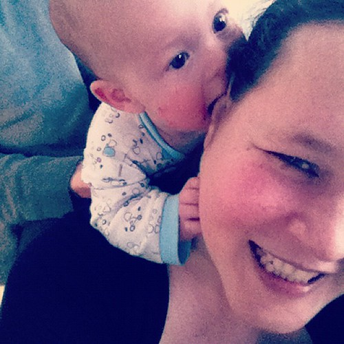 Zombie baby trying to eat my ear :)