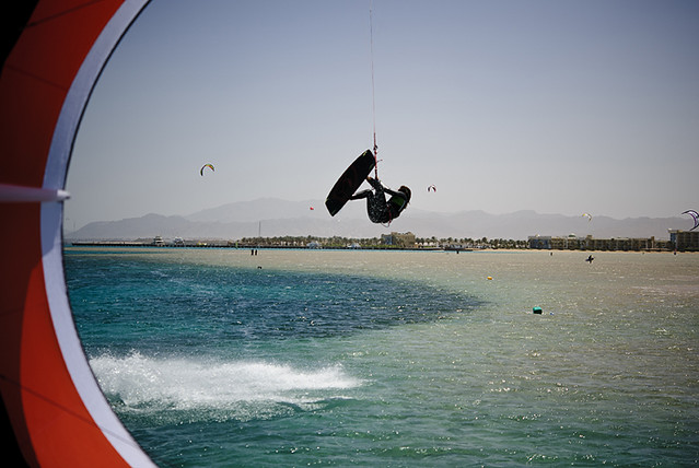 Kitesurfing in Safaga