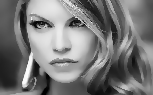 Fergie Digital Art Portrait by David Alexander Elder
