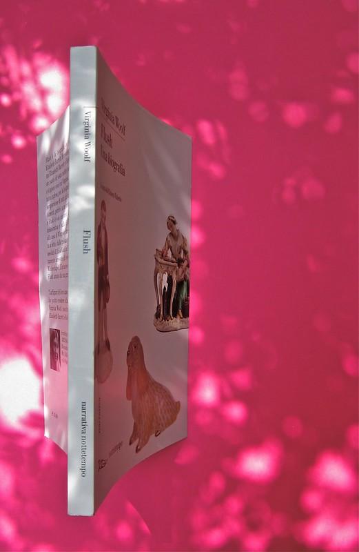Virginia Woolf, Flush. Una biografia. A cura di Chiara Valerio; nottetempo, Roma 2012. progetto grafico di Dario e Fabio Zannier. quarta di copertina, dorso, copertina (part.), 2