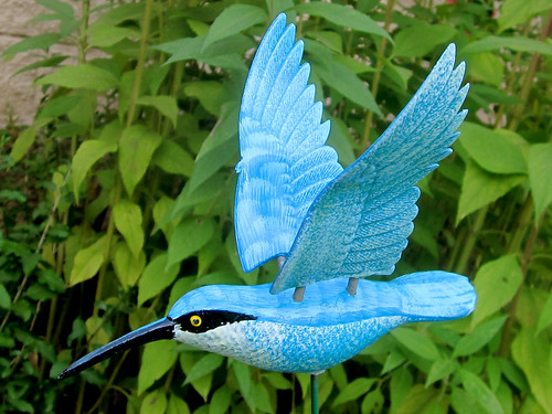 Blue Hummingbird Figure