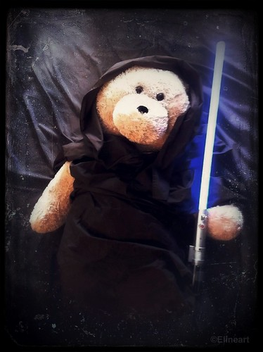 323/365- Jedi Teddy by elineart