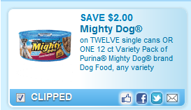 Mighty Dog Cans Or 12 Pack Coupon