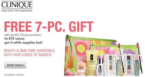 free 7pc clinique gift set with 27 clinique purchase at macy s