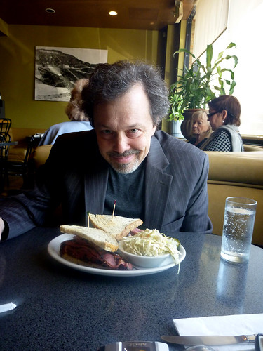 Curtis Armstrong at Victor's Square - Restaurant & Delicatessen - Hollywood CA - Photos By Keith Valcourt