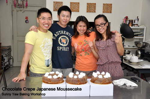 Sunny Yaw Baking Workshop Chocolate Crepe Japanese Moussecake 1