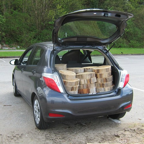 "Trunk full of stepping ""stones"""