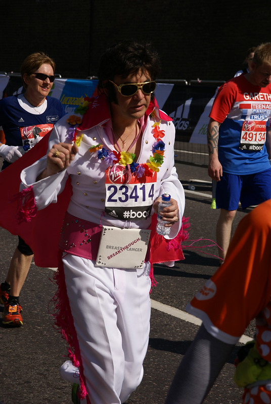 Elvis Runs for Breakthrough Breast Cancer 2014 London Marathon