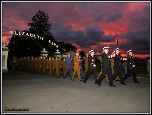 newzealand sunrise dawn memorial military parade service anzac masterton wairarapa 2014