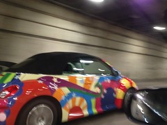 New Beetle / Old Colors in Yerba Buena Island Tunnel.