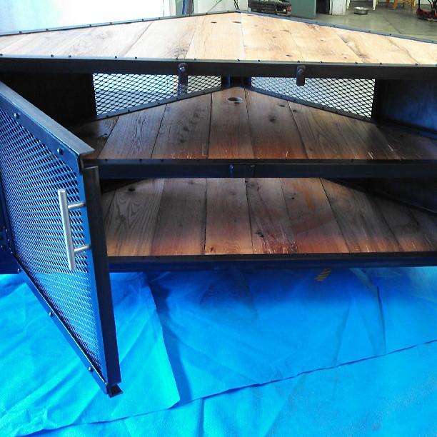 Custom Original Design Triangle Media Cabinet Triangle Table