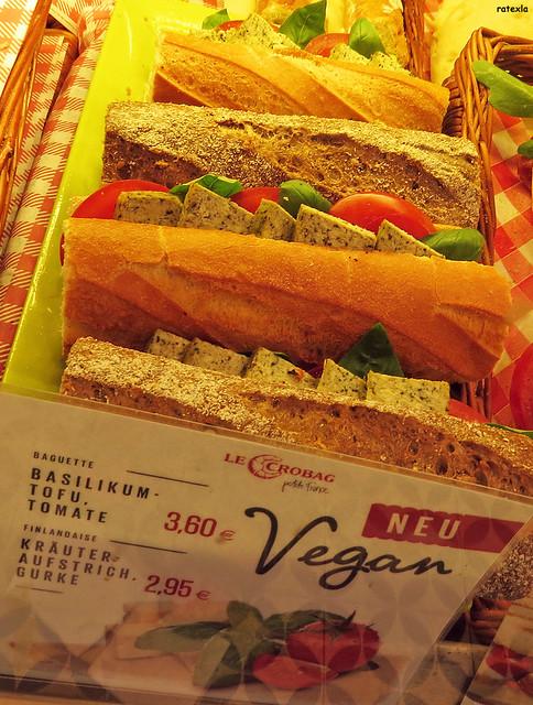20140922 Vegan tofu baguettes at Le Crobag | Hamburg, Germany
