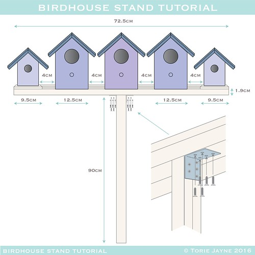 birdhouse stand plans - 4-01