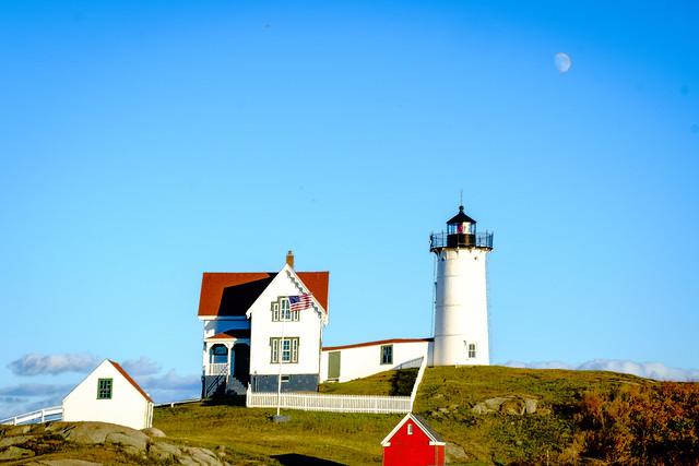 Nubble Bay Lighthouse York Maine