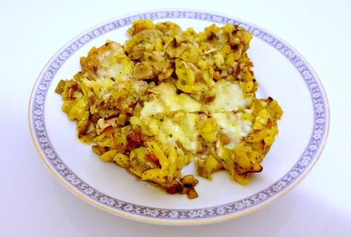 Spätzle-Pilz-Gratin - Resteverbrauch / Spaetzle mushrooms au gratin - left-overs