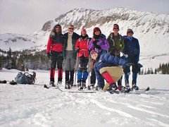 CMC Cross Country Skiers on Mitchell Lake