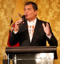 Rafael Correa, Presidente Constitucional de la República del Ecuador