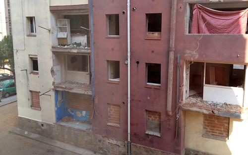 Estado de los pisos vacíos de Los Merinales. Autor: Entesa per Sabadell