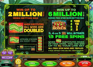 Cashapillar Bonus Game