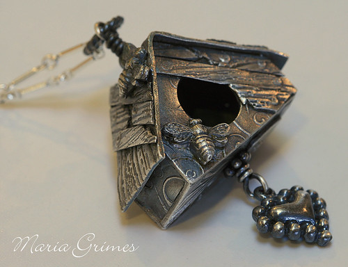 A New Home Fine Silver Necklace