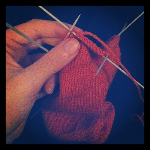Back to knitting the sock again, after a long hiatus!
