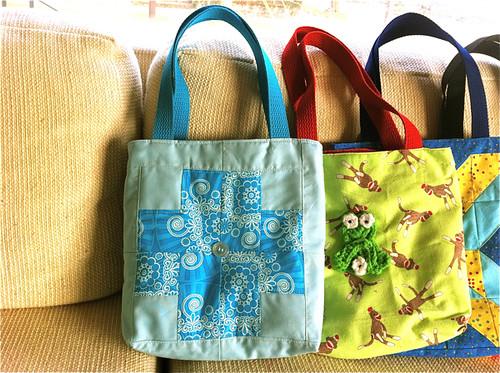 Modern Crosses patchwork tote bag