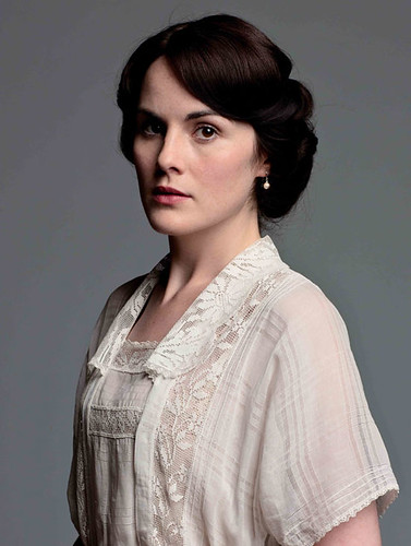 Lady Mary-white lace blouse