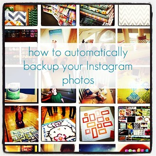 how to automatically backup your Instagram photos