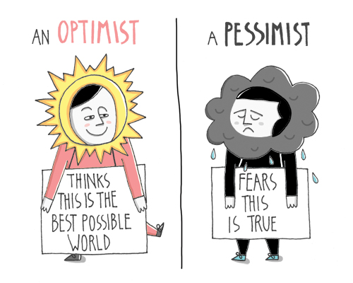 Optimist Vs Pessimist by doublexuan