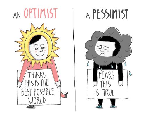 Optimist Vs Pessimist by doublexuan