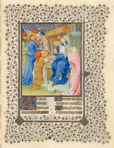 008-Horas de la Pasión-Pilatos se lava las manos-Belles Heures of Jean de France duc de Berry-Folio 138r - ©The Metropolitan Museum of Art