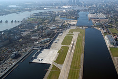Aerial shot of London City Airport (2)