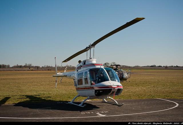 Bell 206 Jet Ranger : Libourne : France : Mars 2012