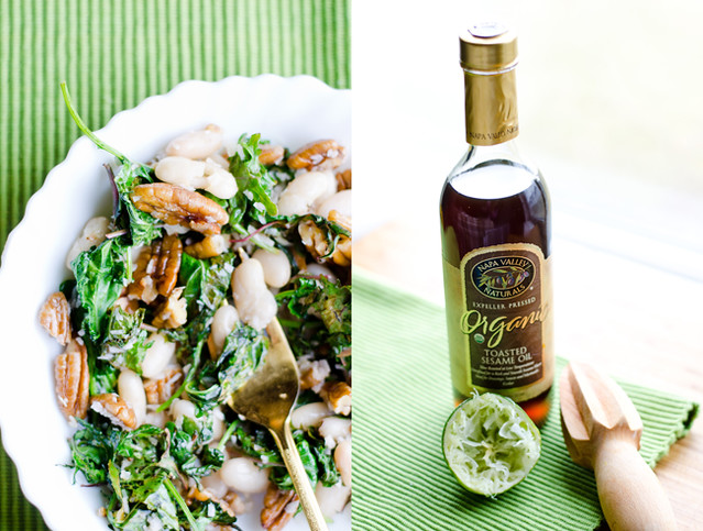 Roasted Kale Salad with Pecans and Sesame Oil by Mary Banducci