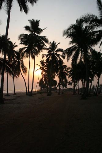 africa sunset beach ghana brenubeach