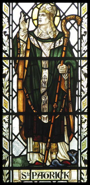 St Patrick expels the snakes