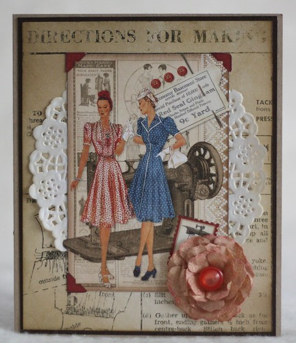 Vintage Sewing Card