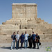 G Adventures Group at Tomb of Cyrus - Pasargadae, Iran