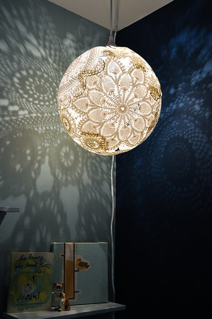 Doily light at night
