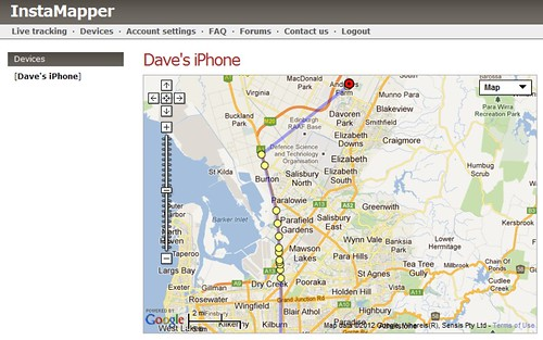 1st GPS Track using iPhone app by dnwallace