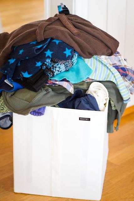 Merking av klær står for tur.